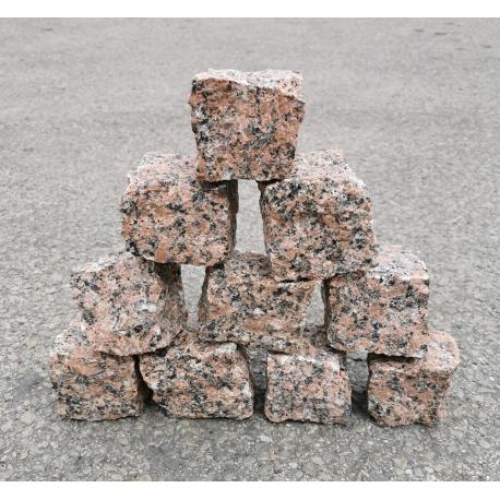 Granito raudonos trinkelės 5x5x5 cm, kg