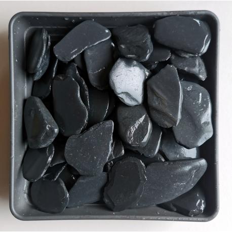 Juodas skalūnas gludintas 20-40 mm, 20kg